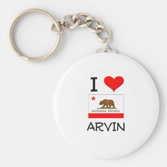 I Love ARVIN California Keychain