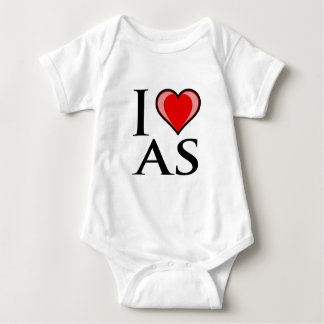 I Love AS - American Samoa Baby Bodysuit