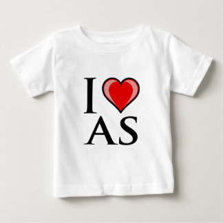I Love AS - American Samoa Baby T-Shirt