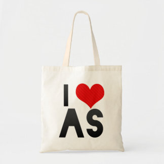 I Love AS Budget Tote Bag
