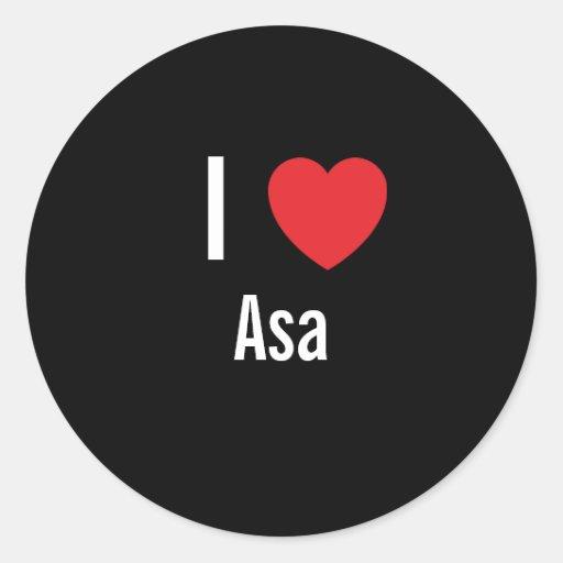 I love Asa Sticker