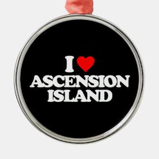 I LOVE ASCENSION ISLAND ORNAMENTS
