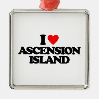 I LOVE ASCENSION ISLAND ORNAMENT