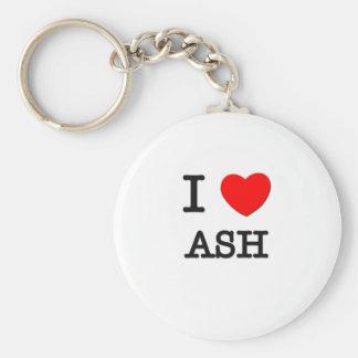 I Love Ash Keychains