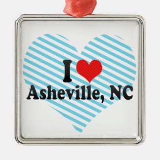 I Love Asheville, NC Metal Ornament