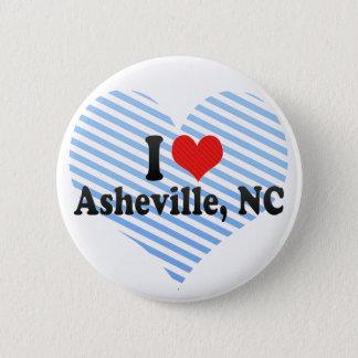 I Love Asheville, NC Pinback Button