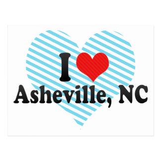 I Love Asheville, NC Postcard