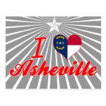 I Love Asheville, North Carolina Postcards