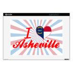"I Love Asheville, North Carolina Skin For 15"" Laptop"