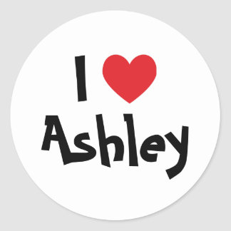 I Love Ashley Stickers