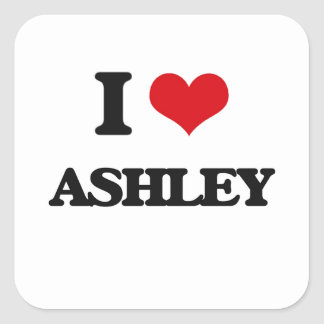I Love Ashley Square Sticker