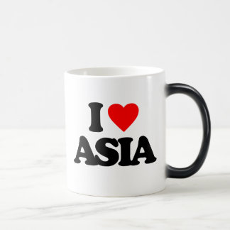 I LOVE ASIA 11 OZ MAGIC HEAT Color-Changing COFFEE MUG
