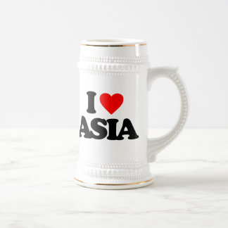 I LOVE ASIA 18 OZ BEER STEIN