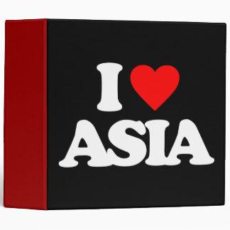 I LOVE ASIA 3 RING BINDERS