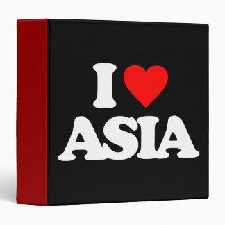I LOVE ASIA 3 RING BINDER