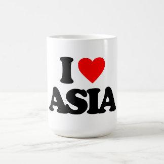 I LOVE ASIA CLASSIC WHITE COFFEE MUG