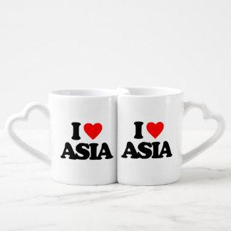I LOVE ASIA COUPLES' COFFEE MUG SET