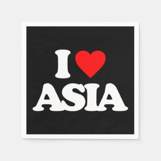 I LOVE ASIA STANDARD COCKTAIL NAPKIN