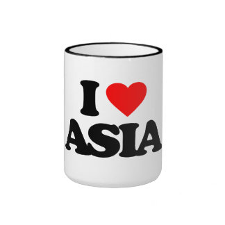 I LOVE ASIA RINGER COFFEE MUG