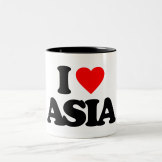 I LOVE ASIA Two-Tone COFFEE MUG
