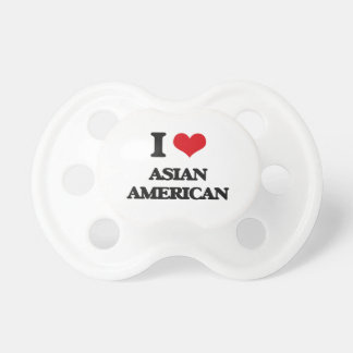 I Love Asian-American BooginHead Pacifier