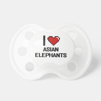 I love Asian Elephants Digital Design BooginHead Pacifier