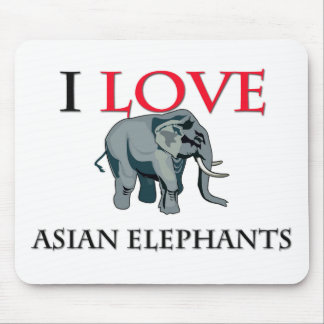 I Love Asian Elephants Mouse Pad
