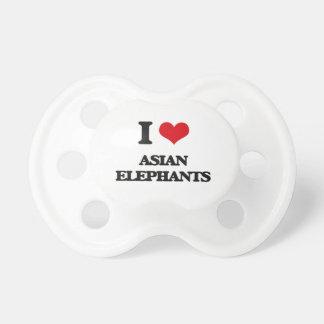 I love Asian Elephants Pacifier