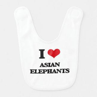 I love Asian Elephants Baby Bib