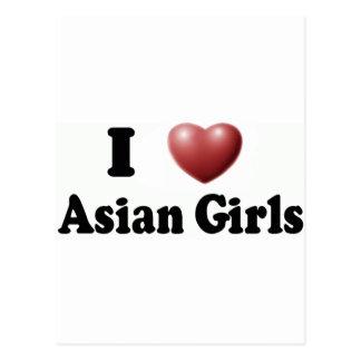 I Love Asian Girls Postcard