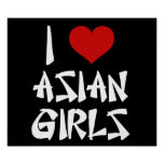 I Love Asian Girls Poster