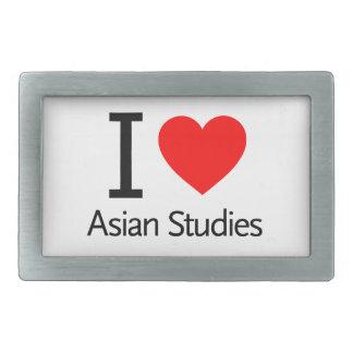 I Love Asian Studies Belt Buckles
