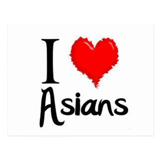 i love asians postcard