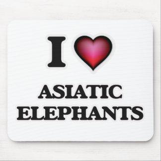 I Love Asiatic Elephants Mouse Pad