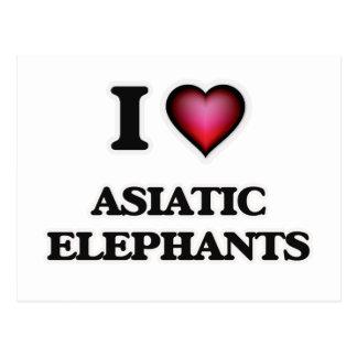 I Love Asiatic Elephants Postcard