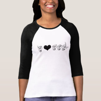 I Love ASL (American Sign Language) Elbow Tee