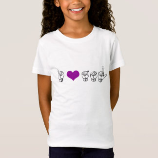 I Love ASL (American Sign Language) Girls Tee