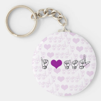 I Love ASL (American Sign Language) Keychain