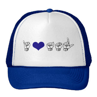I Love ASL Hat