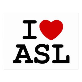 I Love ASL Postcard