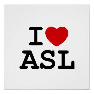 I Love Asl Poster