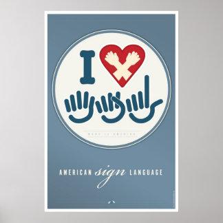 I LOVE ASL. PRINT
