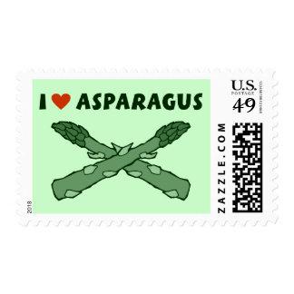 I Love Asparagus Stamps