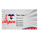 I Love Aspen, Colorado Double-Sided Standard Business Cards (Pack Of 100)