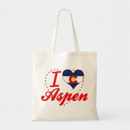 I Love Aspen, Colorado Tote Bag