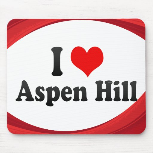 I Love Aspen Hill, United States Mousepad
