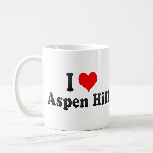 I Love Aspen Hill, United States Mugs