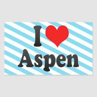 I love Aspen Rectangular Sticker