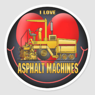I Love Asphalt Paving Machines Kids Sticker