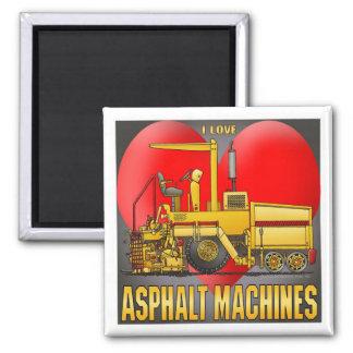 I Love Asphalt Paving Machines Magnet